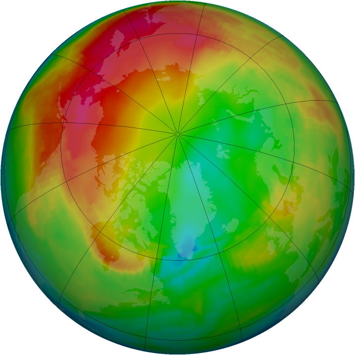 Arctic ozone map for 23 January 1986
