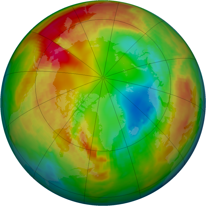 Arctic ozone map for 04 February 1986