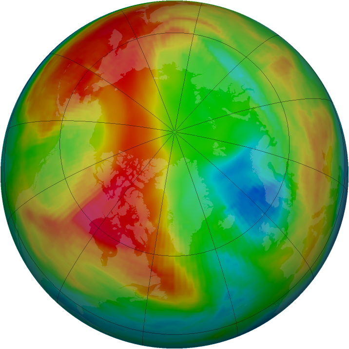 Arctic ozone map for 07 February 1986