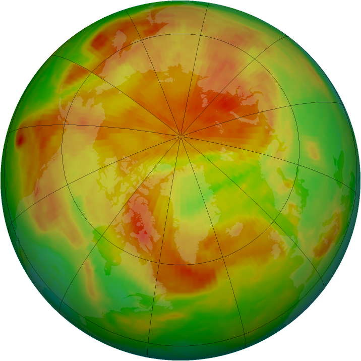 Arctic ozone map for 29 April 1986