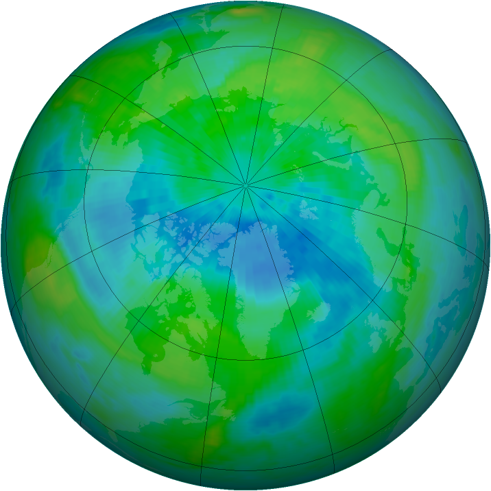 Arctic ozone map for 18 September 1986