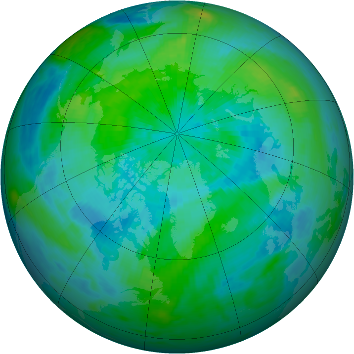 Arctic ozone map for 22 September 1986