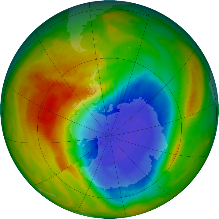 Antarctic ozone map for 12 October 1986