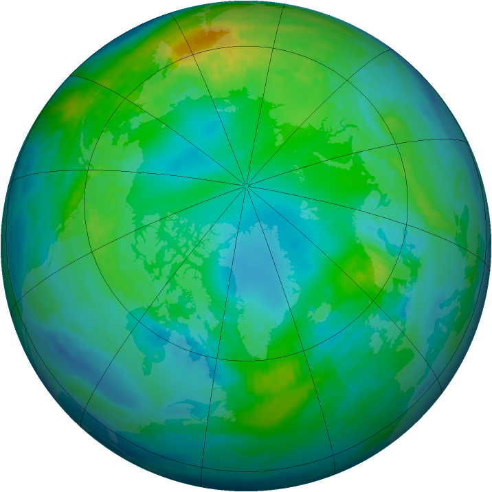 Arctic ozone map for 06 November 1986