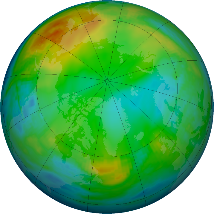Arctic ozone map for 09 December 1986