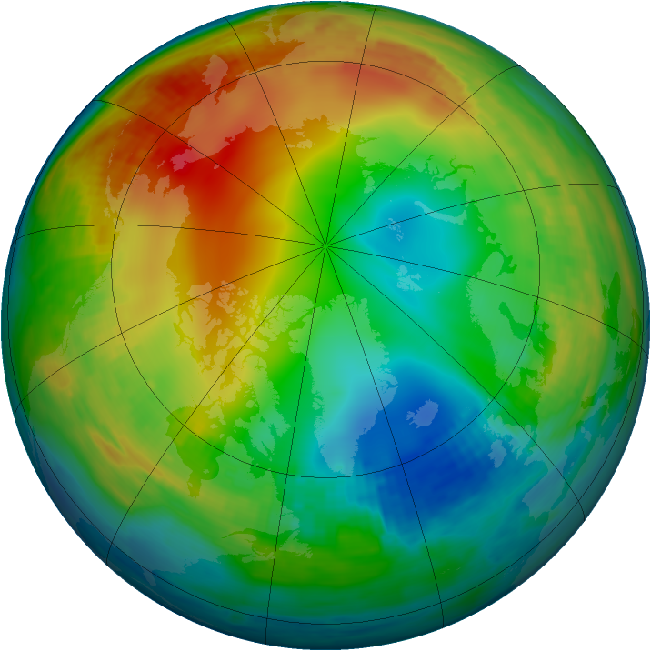 Arctic ozone map for 06 January 1987
