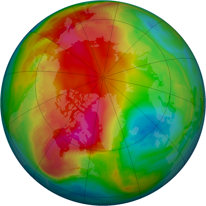 Arctic ozone map for 23 January 1987