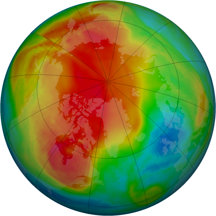 Arctic ozone map for 24 January 1987