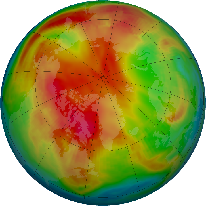 Arctic ozone map for 29 January 1987