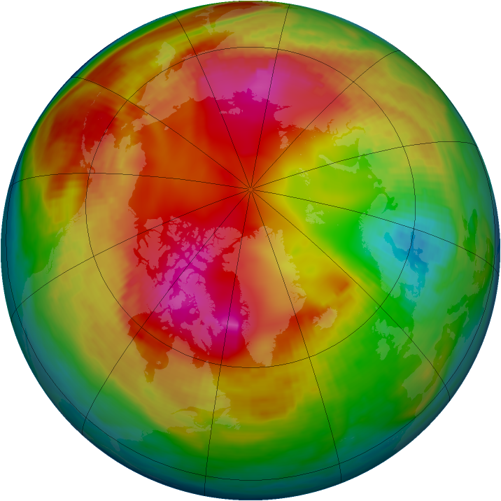 Arctic ozone map for 03 February 1987