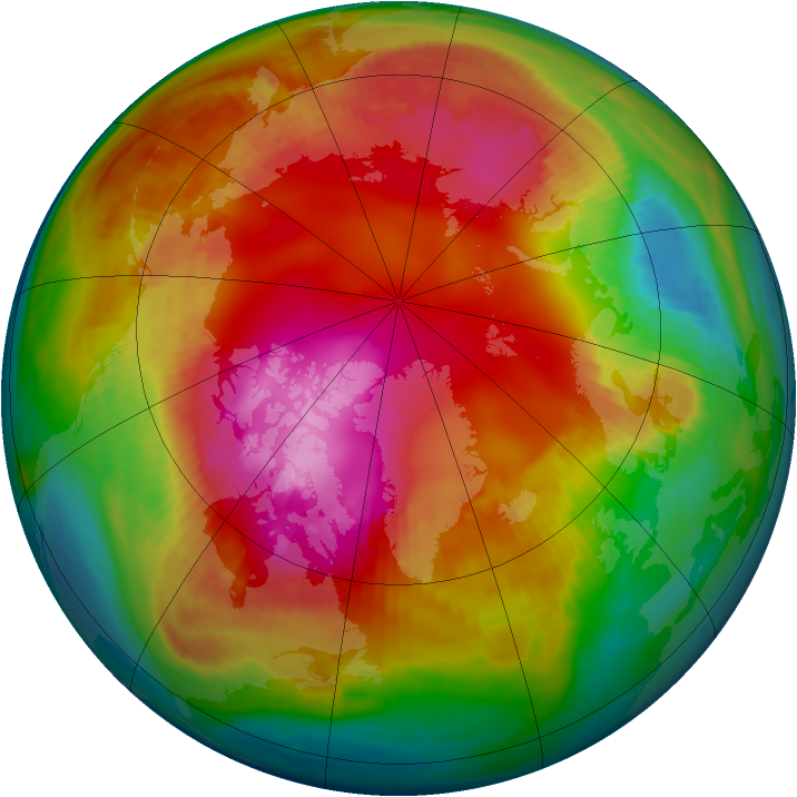 Arctic ozone map for 08 February 1987
