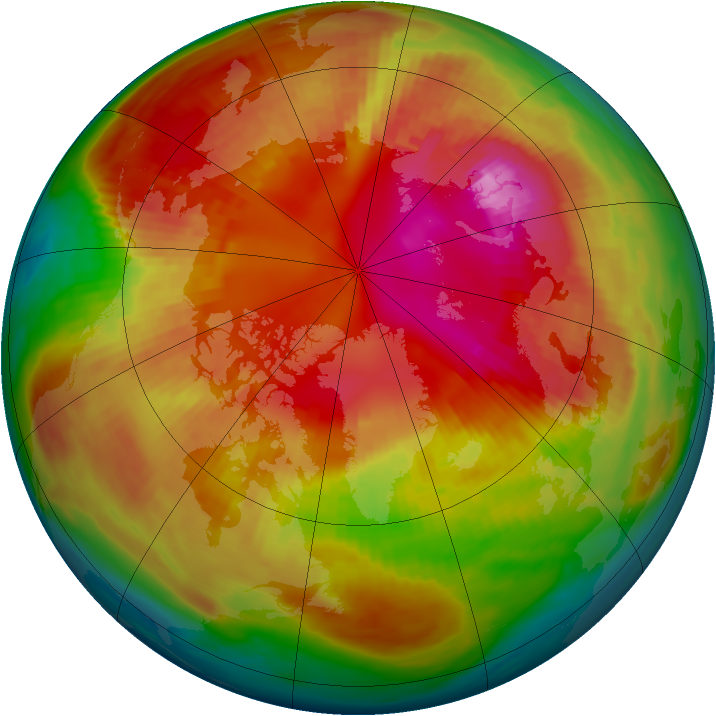 Arctic ozone map for 23 February 1987
