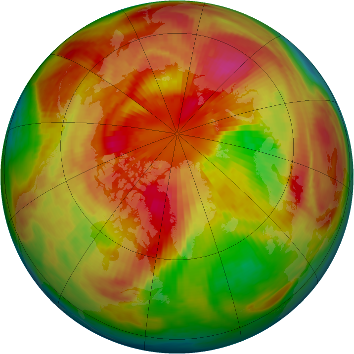 Arctic ozone map for 15 March 1987