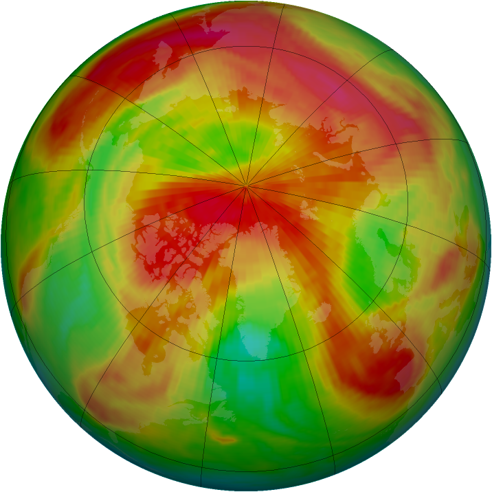 Arctic ozone map for 03 April 1987