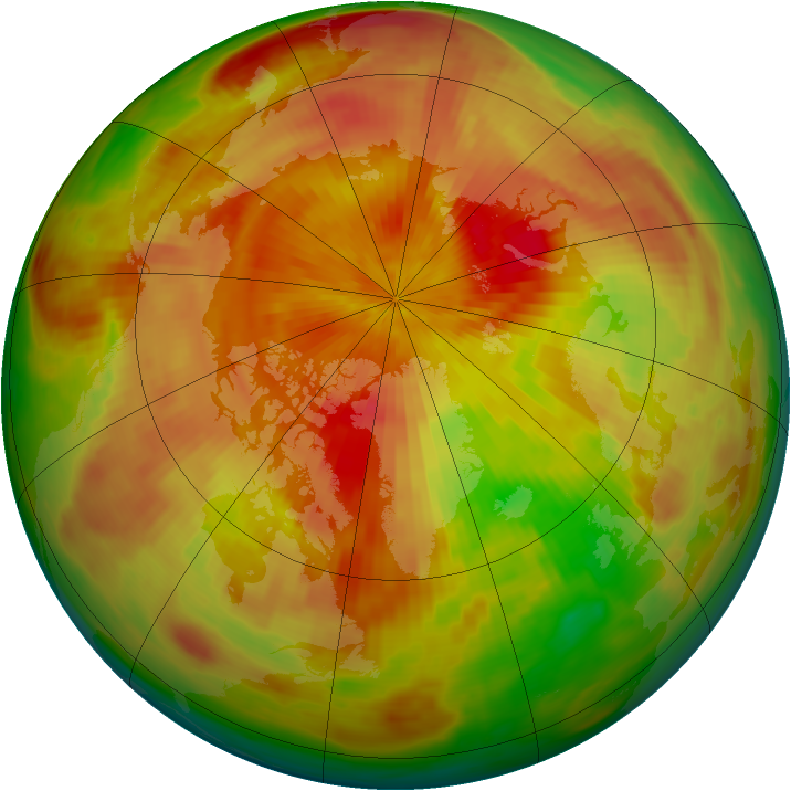 Arctic ozone map for 12 April 1987
