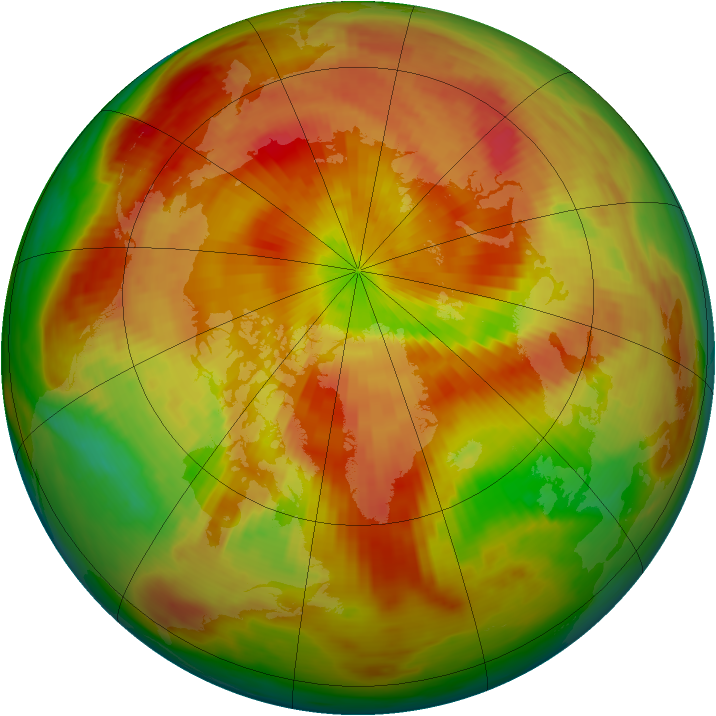 Arctic ozone map for 17 April 1987