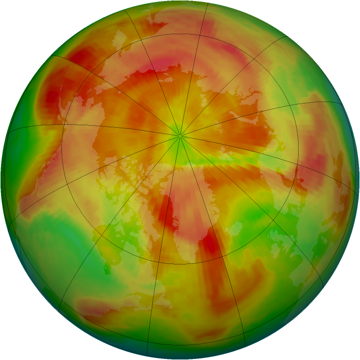 Arctic ozone map for 18 April 1987