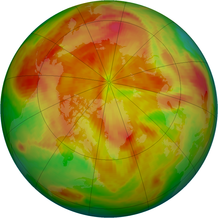 Arctic ozone map for 20 April 1987