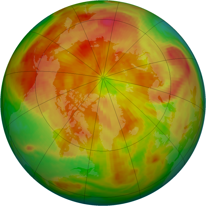 Arctic ozone map for 21 April 1987