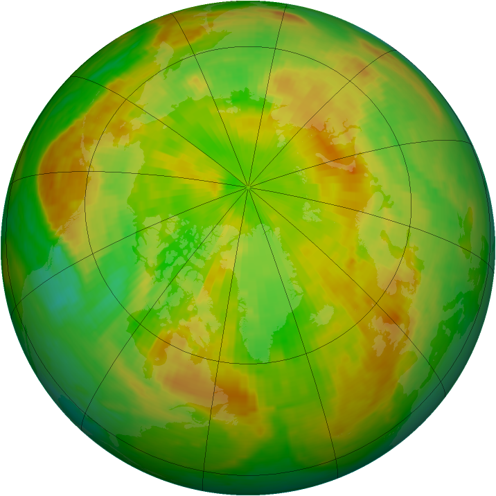 Arctic ozone map for 12 June 1987
