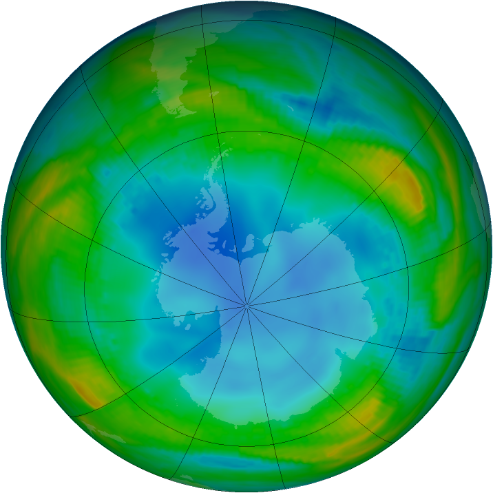 Antarctic ozone map for 27 July 1987