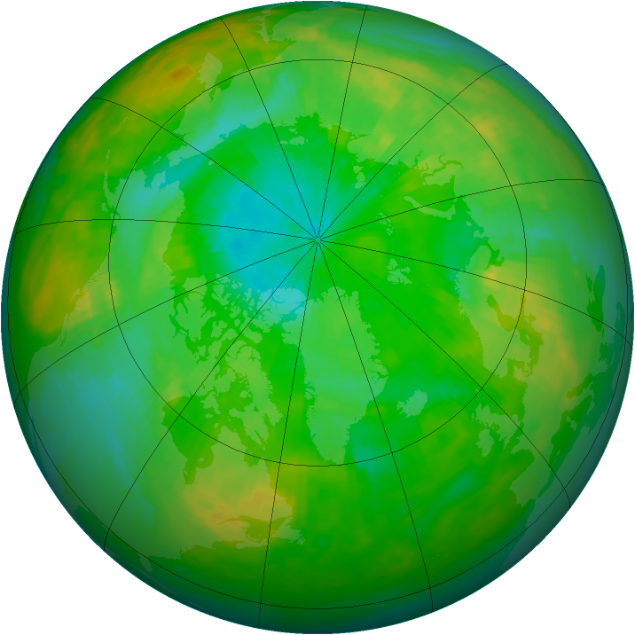Arctic ozone map for 28 July 1987