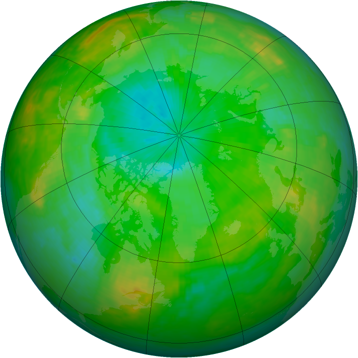 Arctic ozone map for 31 July 1987