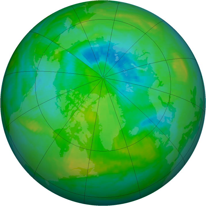 Arctic ozone map for 03 September 1987
