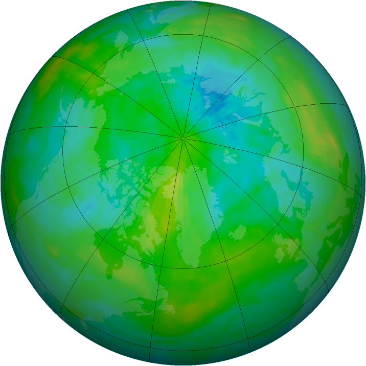 Arctic ozone map for 05 September 1987