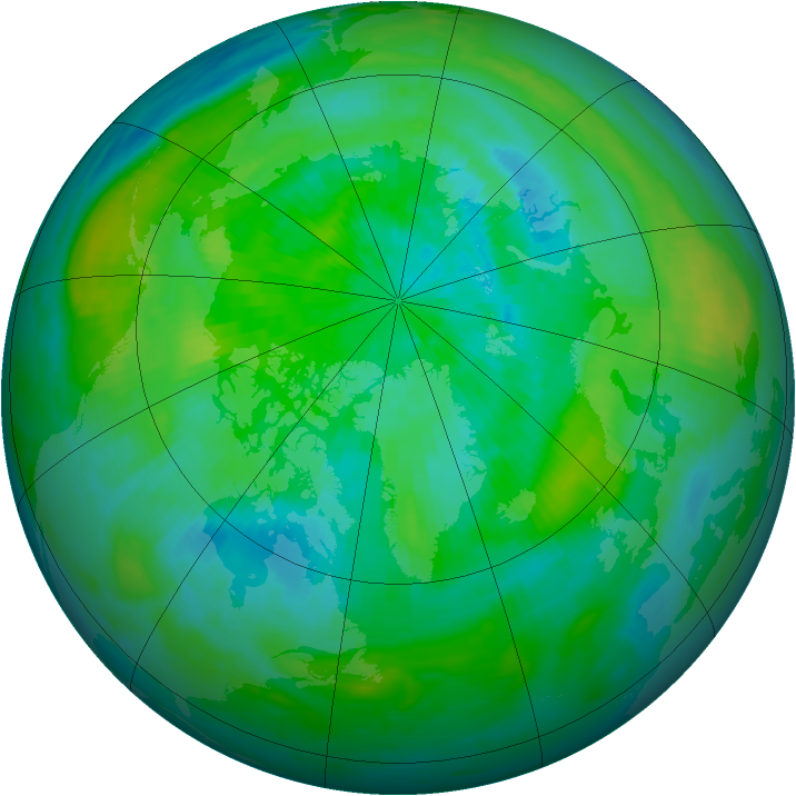 Arctic ozone map for 18 September 1987