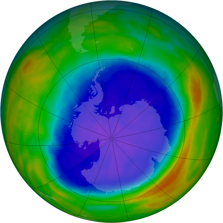Antarctic ozone map for 30 September 1987