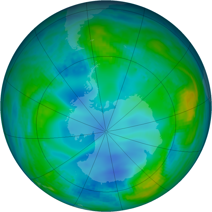 Antarctic ozone map for 23 May 1988