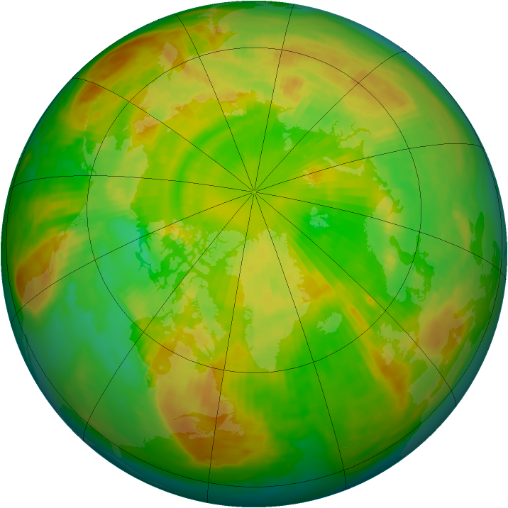 Arctic ozone map for 07 June 1988