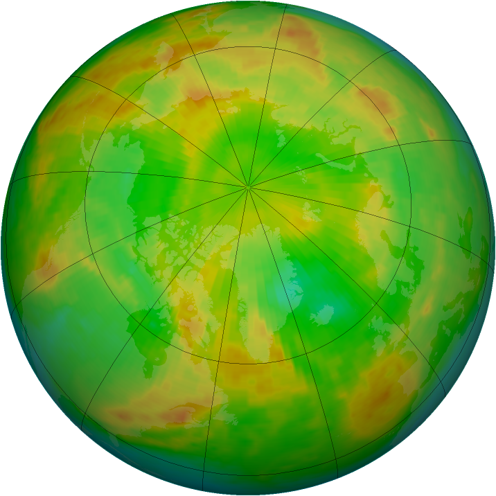 Arctic ozone map for 10 June 1988