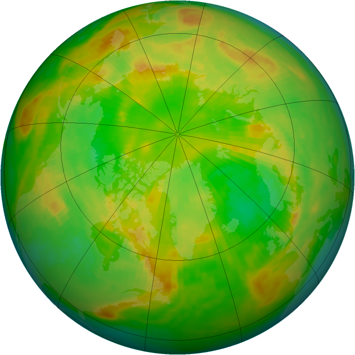 Arctic ozone map for 11 June 1988