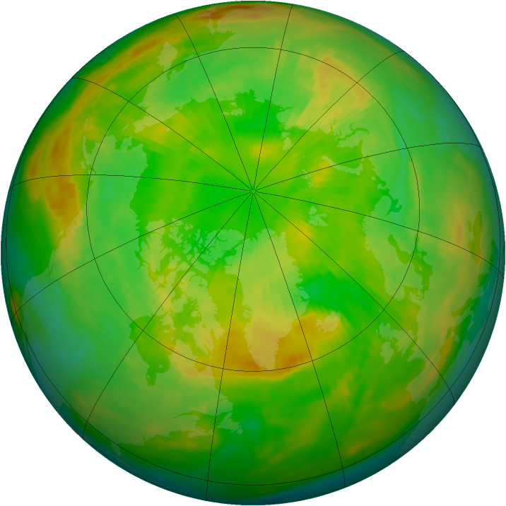 Arctic ozone map for 18 June 1988