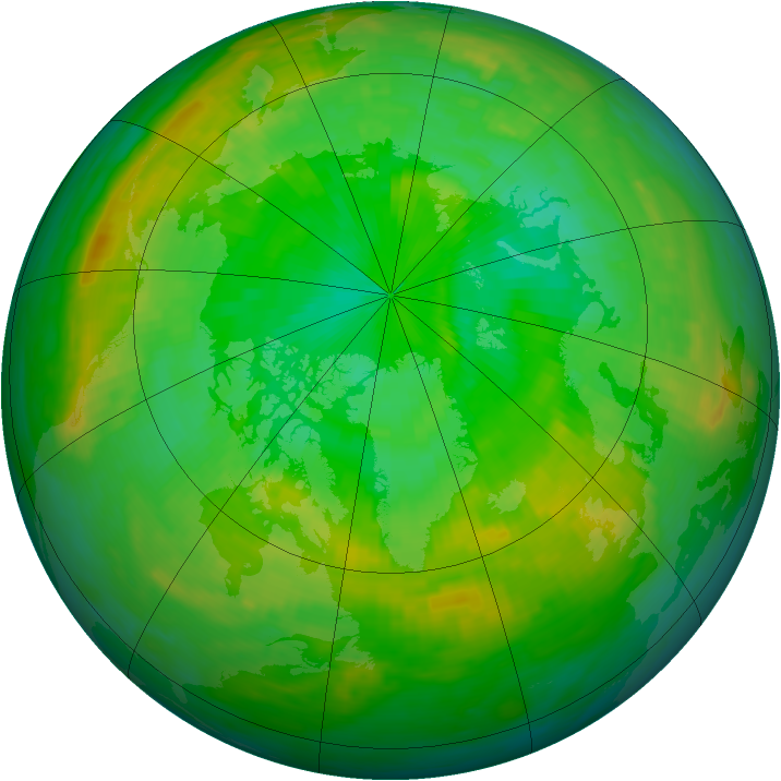 Arctic ozone map for 11 July 1988