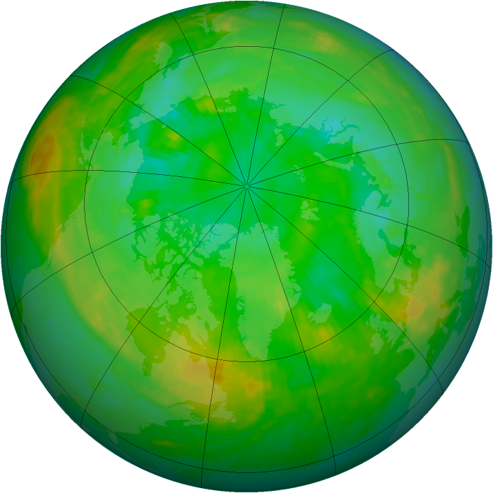 Arctic ozone map for 16 July 1988
