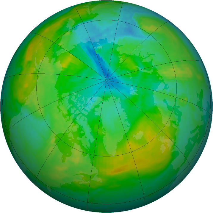 Arctic ozone map for 26 July 1988