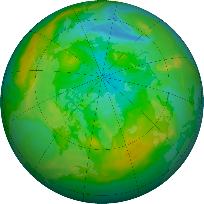 Arctic ozone map for 27 July 1988