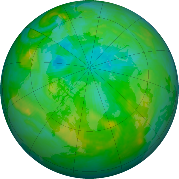 Arctic ozone map for 02 August 1988
