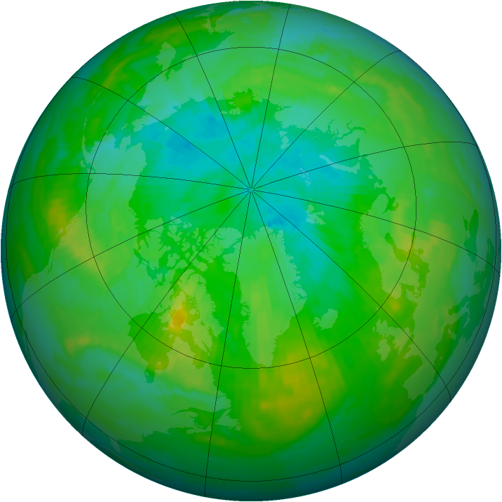 Arctic ozone map for 04 August 1988