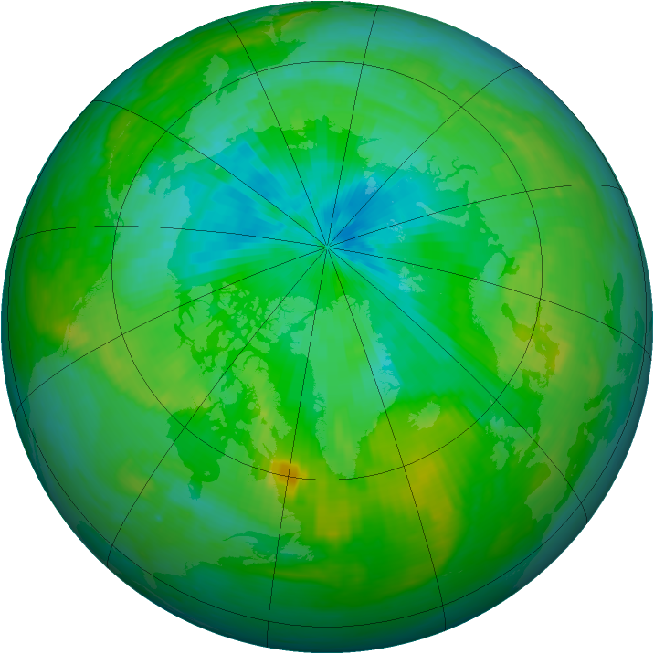 Arctic ozone map for 05 August 1988