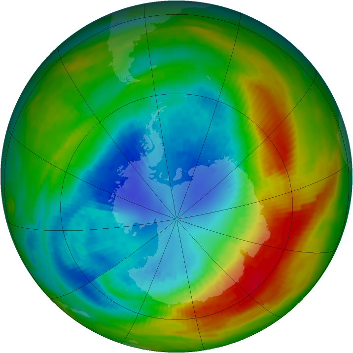 Antarctic ozone map for 01 September 1988