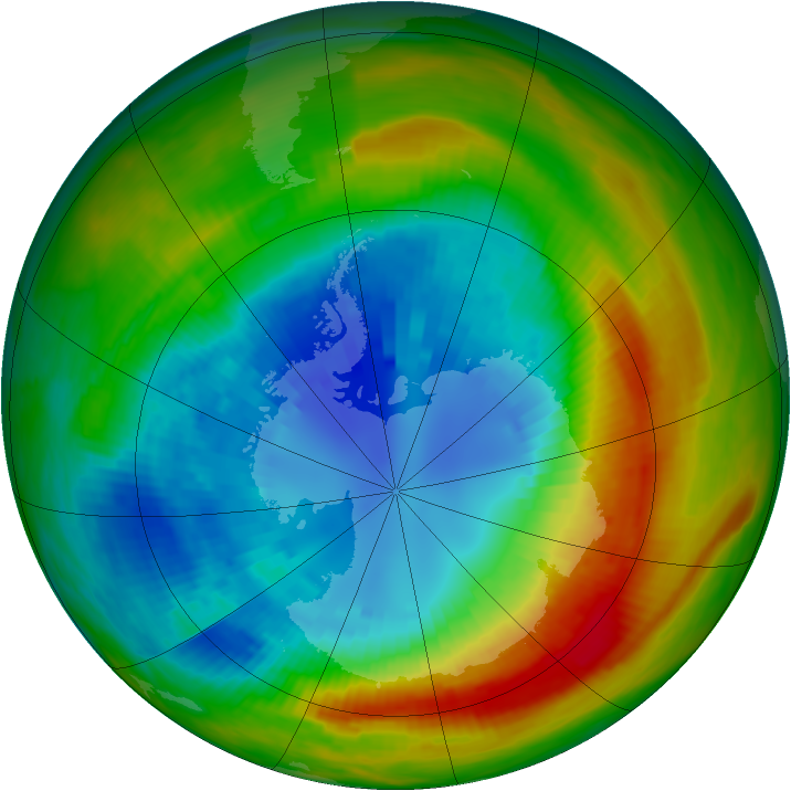 Antarctic ozone map for 02 September 1988