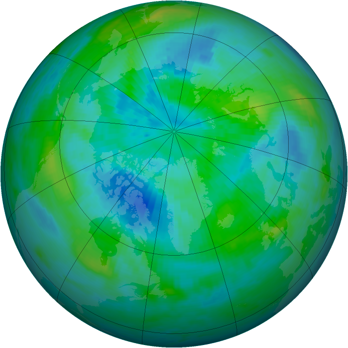 Arctic ozone map for 23 September 1988