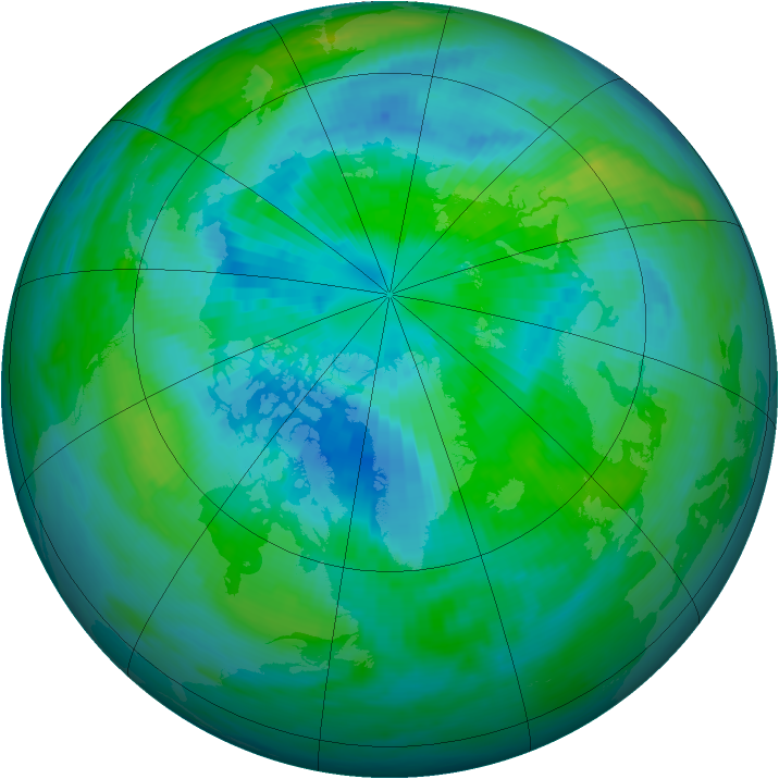 Arctic ozone map for 24 September 1988