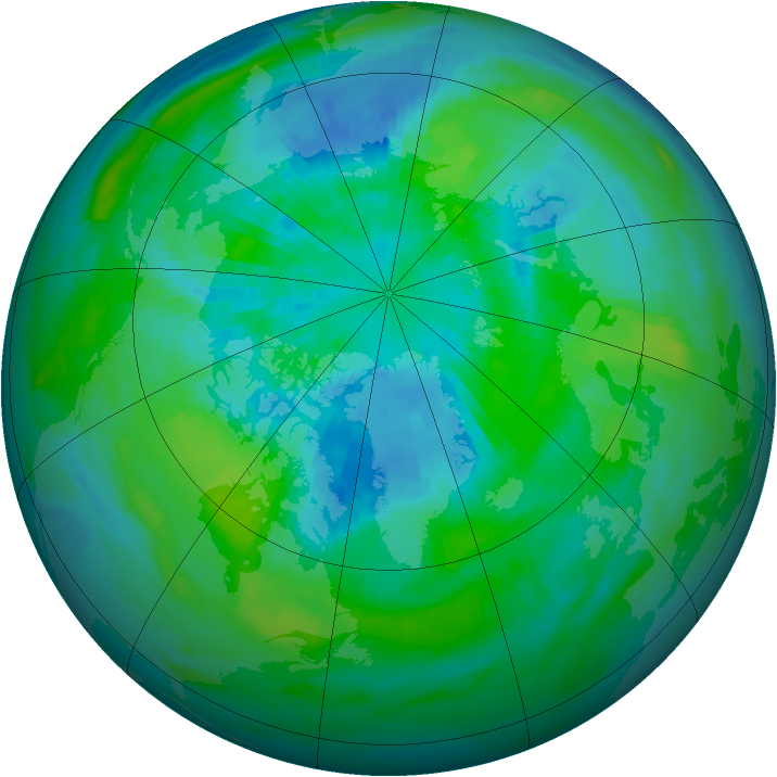 Arctic ozone map for 26 September 1988