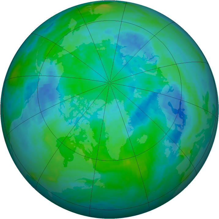 Arctic ozone map for 02 October 1988