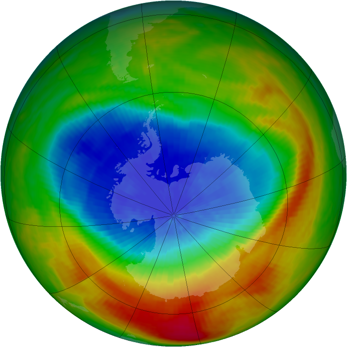Antarctic ozone map for 04 October 1988